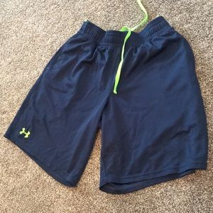 Under armour athletic shorts navy medium